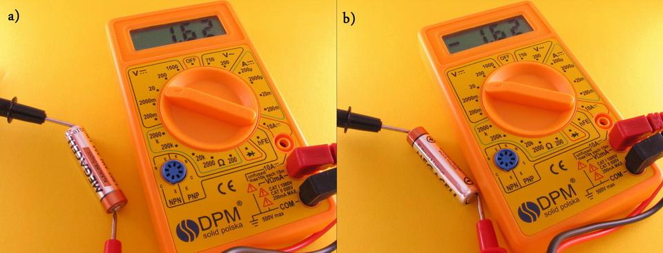 pomiar napiecia baterii